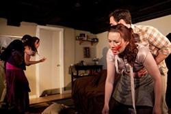 CHESHIRE ISAACS - Seth Thygesen, Andrea Snow, Marissa Keltie, and Nick Trengove in Disassembly.