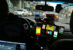 The 5-app cab driver. - TWITTER/THOMAS PURVES