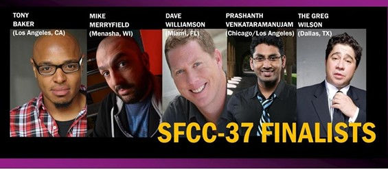 SFCC 37 Finalists - IMAGE COURTESY OF SAN FRANCISCO COMEDY COMPETITION
