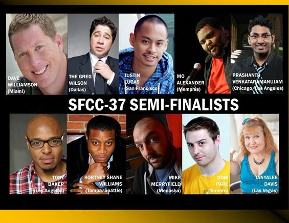 SFCC Semi-finalists - PHOTO COURTESY OF SAN FRANCISCO COMEDY COMPETITION
