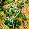SFoodie: Angel Hair Pasta with Broccoli and Garlic Sauce