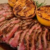 SFoodie: Garlic, Black Pepper, and Fennel Crusted Flank Steak with Grilled Oranges