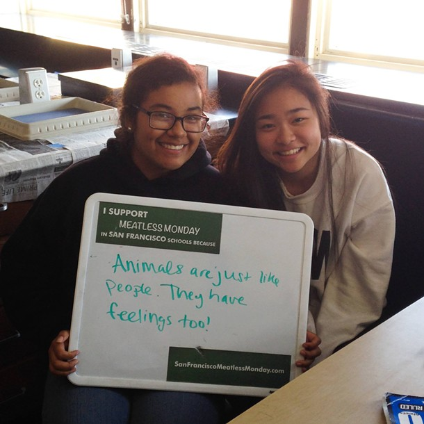 SFUSD students tell why Meatless Mondays should be a thing. - FACEBOOK