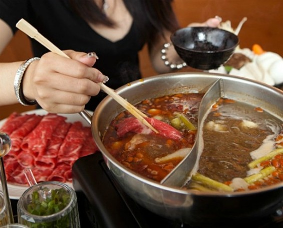 Shabu shabu at Shabu Pub, which is not traditionally Japanese - MELISSA BARNES