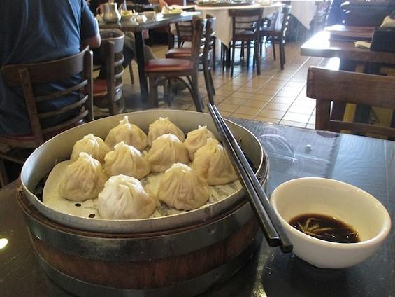 Shanghai Dumpling Shop in Millbrae's Xiao Long Bao (Pork Soup Dumplings) - TREVOR FELCH
