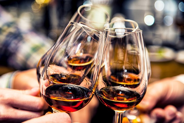 Share some brandies with friends a bites from Bar Agricole. - SHUTTERSTOCK