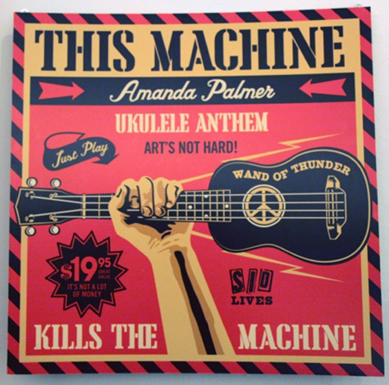 "Shepard Fairey, ""Inspired by 'Ukelele Anthem'"" - KATE CONGER"