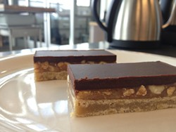 ANNA ROTH - Shortbread, caramel, almonds, and dark chocolate: Blue Bottle's Edith Heath bars are deliciously wonderful.