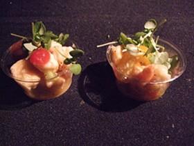 Shrimp ceviche from Sam's Chowder House. - TAMARA PALMER