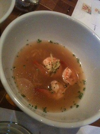 Sinigang: The tamarind-spiked vegetable broth was unexpectedly flowery. - JOHN BIRDSALL