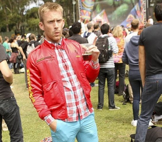 Sippin' a brew at Outside Lands - CHRISTOPHER VICTORIO