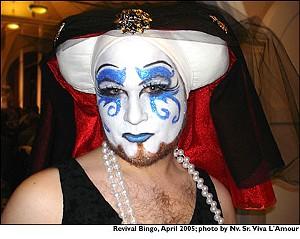 Sister Edith at Revival Bingo in April 2005 - NV. SR. VIVA L'AMOUR