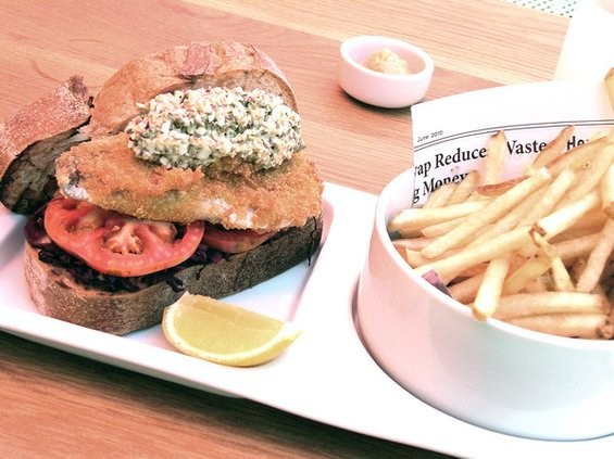 Skool's aji sandwich, $12. - JOHN BIRDSALL