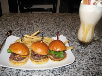 Sliders and a shake: The Cheesecake Factory with black truffles? - M. BRODY
