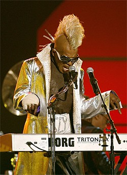 LUCY NICHOLSON/REUTERS CORBIS - Sly Stone at the 2006 Grammys.