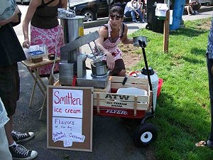 Smitten Ice Cream debuts its quince streusel flavor today. - T. PALMER