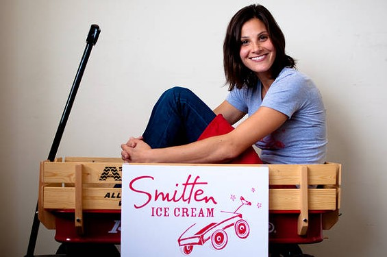 Smitten Ice Cream's Robyn Sue Goldman-Fisher. - GIL RIEGO, JR.