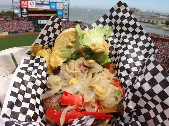 AT&T Park's portobello mushroom sandwich. Served on the upper deck/ view level only. - TREVOR FELCH