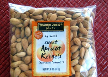 Snacktion: Trader Joe's Dry-Roasted Sweet Apricot Kernels