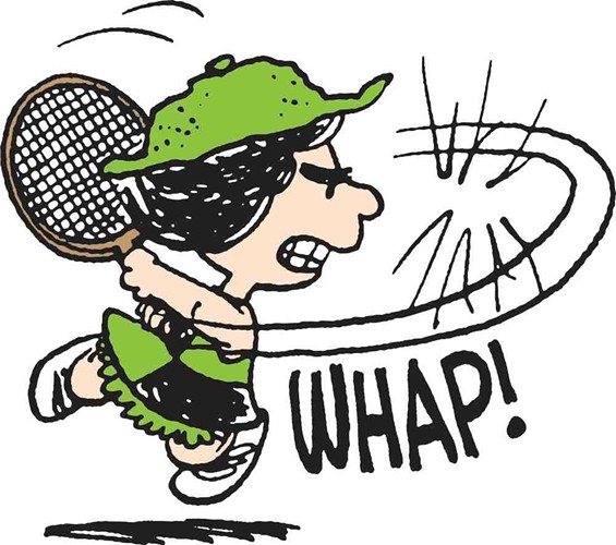 Snoopy's tennis partner Molly Volley, 1977. - CHARLES M. SCHULZ