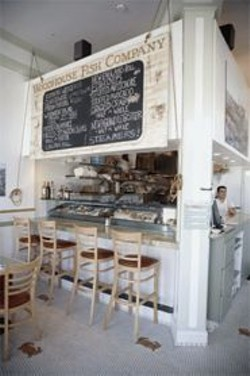 JAMES  SANDERS - Snug quarters and big tastes at Woodhouse Fish Company.