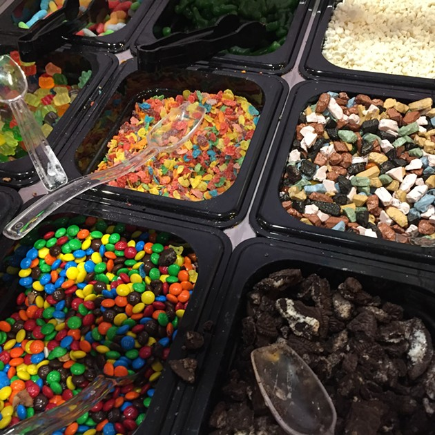 Some toppings (Hey, Fruity Pebbles!). - PETER LAWRENCE KANE