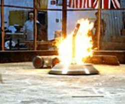 Something will almost certainly explode at - the ComBots Cup.