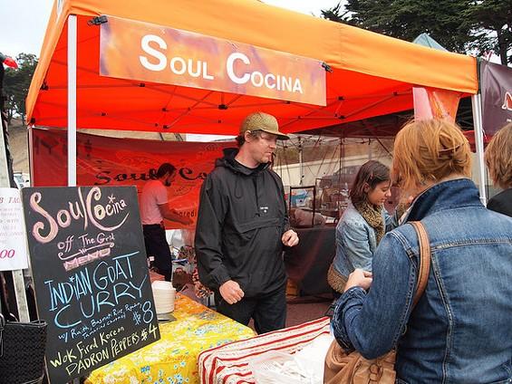 Soul Cocina's Roger Feely (in cap) at Off the Grid. - SJSHARKTANK/FLICKR