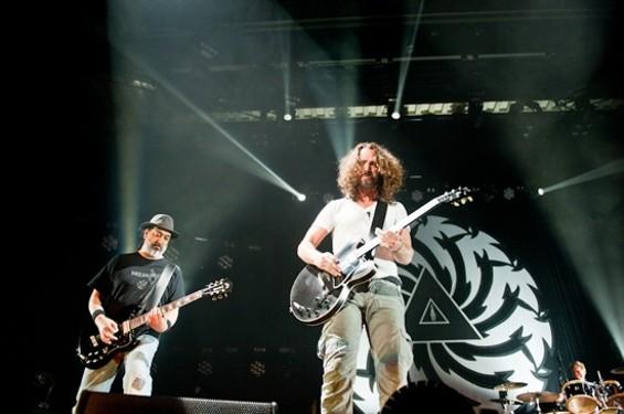 Soundgarden at Bill Graham Civic last night. - RICHARD HAICK