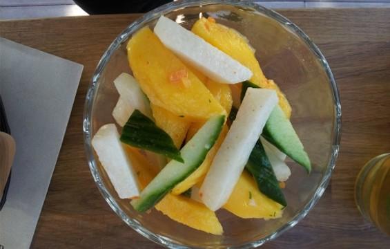Spicy mango ceviche at El Techo de Lolinda - PETE KANE