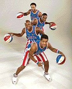 Spin the ball, Globetrotters! Spin it!