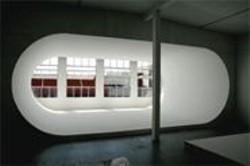 "KYU  CHE - Squat Here, Please: The pod called ""Tubular,"" awaiting an artist's interpretation."