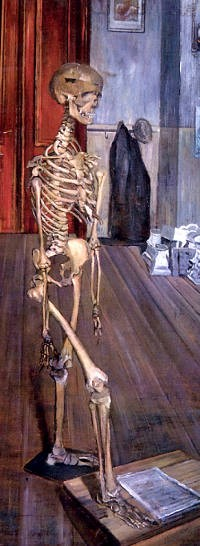 Squelette dans l'atelier - PAUL DELVAUX