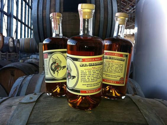 St. George's latest batch of single malt whisky is its best yet. - ANNIE JESSEMAN