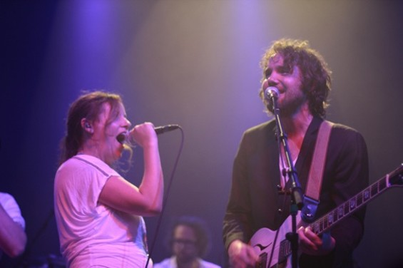Stars' Amy Millan and Broken Social Scene's Kevin Drew at the Fillmore Saturday night. - MATT SMITH