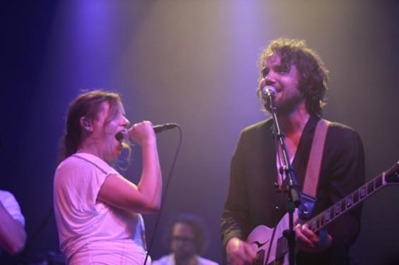 Stars' Amy Millan and Broken Social Scene's Kevin Drew at the Fillmore Saturday night. - MATT SMITH
