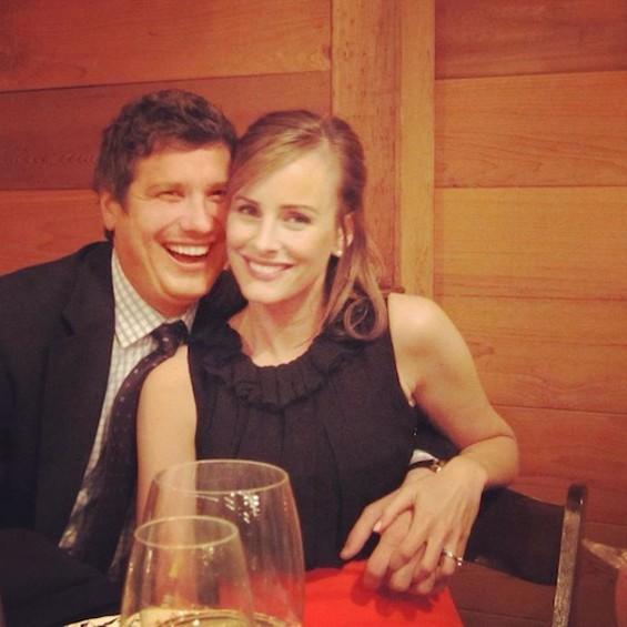 Steve Brodsky with his wife, Anna.
