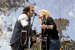 JAY BLAKESBERG - Steve Earle and Allison Moorer at 2006's Hardly Strictly Bluegrass.
