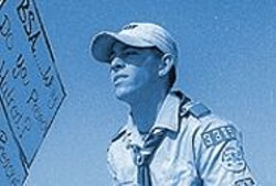 MARK  GRAHAM - Steven Cozza opposes Scouts ban on gays.