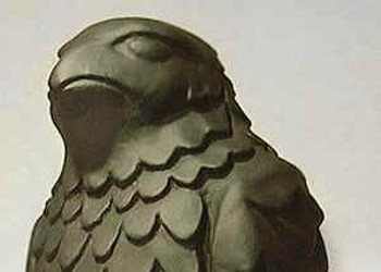 Stolen Maltese Falcon To Be Replaced Today at John's Grill -- A Caper Story Worthy of Dashiell Hammett