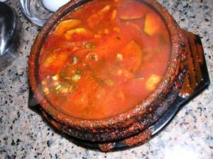Stone Korean Kitchen's soon dubu, i.e. tofu soup. - J. BIRDSALL