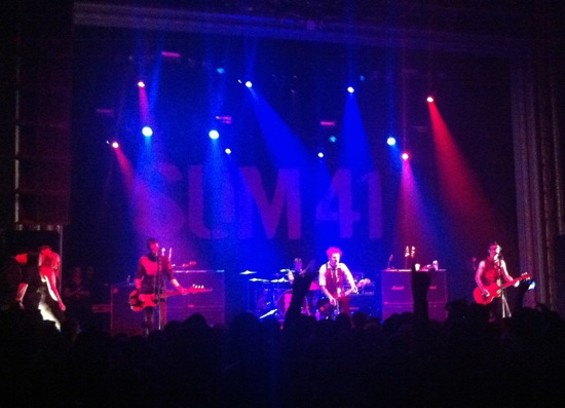 Sum41 at the Regency Ballroom. Photos by the author.
