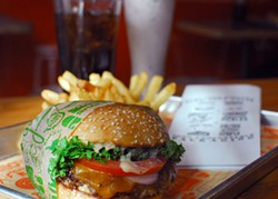 EVAN DUCHARME - Super Duper's juicy burger, soon to be available in seven locations.