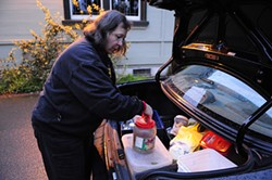 GIL RIEGO JR. - Supervolunteer Paula Kotakis has - spent 20,000 hours during more than 28 years attending to the feral cats of Golden Gate Park.