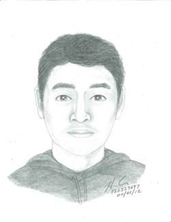 Suspect looks something like this