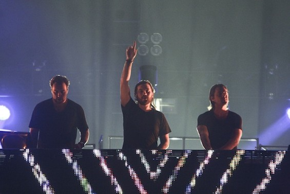 Swedish House Mafia at Bill Graham Civic Auditorium last night. - CHRISTOPHER VICTORIO