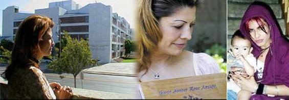 Sylvia Guerrero with Gwen's Urn