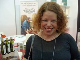Tablehopper Marcia Gagliardi, in the Italian zone. - MARY LADD