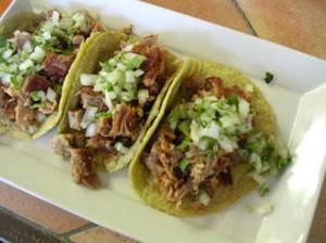 Tacos de suadero are typical of Chilango's balancing act. - J. BIRDSALL
