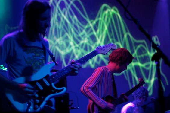Tame Impala and the oscilloscope wriggles. Pics by Ian, more after the jump.